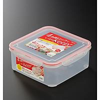 Hộp nhựa trong đựng thực phẩm hình vuông 1,3 lít - Hàng nội địa Nhật Bản