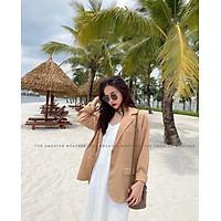 Áo khoác vest blazer nữ dáng suông 2 khuy chất vải cao cấp