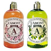 Combo 2 Sữa Tắm L'amont En Provence Hoa Anh Đào và Olive  500ml/chai