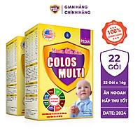 Combo 2 hộp Sữa bột Colosmulti Pedia hộp 22 gói x 16g chuyên biệt hỗ trợ giúp bé ăn ngoan