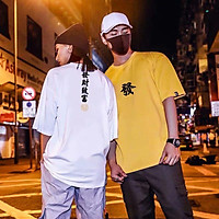 3 Color【M-5XL】Fashion Short Sleeve T-shirt Men Printed Chinese Pattern Student Couple Short T-shirt Unisex T-shirt Summer New Style Oversize Couple Wear