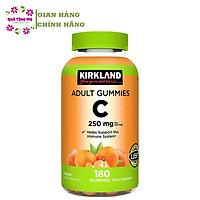 Kẹo Dẻo Vitamin C 250mg Kirkland Adult Gummies 180v Của Mỹ Hộp Giúp Tăng Cường Sức Đề Kháng và Miễn Dịch, Trắng Sàng và Chống Lão Hóa Da