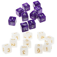 20Piece Six Sided Dice D6 for Playing D&D RPG Party Game