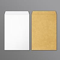 COMBO BAO THƯ 1 BỘ 2 LOẠI BAO THƯ LỚN (Bao thư trắng 50 cái, Bao thư giấy Kraft 50 cái) - 1 XẤP/ 100 CÁI, NẮP KHÔNG KEO
