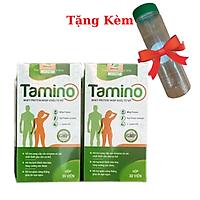Combo 2 Hộp Viên Uống Tăng Cân TAMINO - Bổ Sung Hợp Chất Whey Protein, Tặng Kèm Bình Uống Nước
