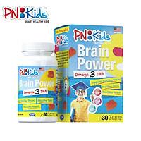 Kẹo Dẻo Bổ Sung Omega 3-DHA BRAIN POWER PNKIDS Hỗ Trợ Sức Khỏe Tim Mạch Tăng Cường Hệ Miễn Dịch Và Phát Triển Trí Não Trẻ