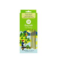 Ống hút cỏ bàng tự nhiên phân hủy 30 ngày (100 ống)