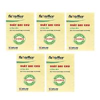 Bộ  5 Giấy ghi chú Flexoffice 3x2 FO-SN02
