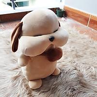 Chó Puppy mặt xệ đeo cặp màu nâu size 33cm