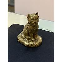 Tượng Mèo bằng đồng bằng đồng cao 8cm
