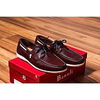Giày nam cao cấp chính hãng BANULI, kiểu giày thuyền C5BT2T0 da bò thật đế cao su tự nhiên