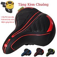 Yên xe đạp thể thao , Yên xe đạp siêu êm , Chính hãng Sengxin , da PU cao cấp - Tặng kèm chuông 04