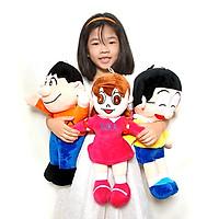 Combo gấu bông hoạt hình Nobita Suka Chaien đáng yêu size 50cm