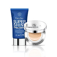Combo Kem chống nắng Sun Serum và Phấn nước Sun Cushion Super Shine Cosmeheal