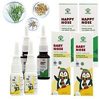 Combo xịt mũi viêm xoang cho đại gia đình, 2 Matara Happy Nose và 2 Matara Baby Nose. Dứt điểm các triệu trứng liên quan đến đường hô hấp. An toàn tuyệt đối khi sử dụng