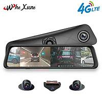 Camera hành trình 360 độ gương ô tô cao cấp nhãn hiệu Whexune K960 màn hình LCD IPS 12 inch