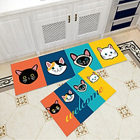 Bộ 2 thảm trang trí, thảm bếp cao cấp GOO02 (40x60 cm và 40x120 cm)