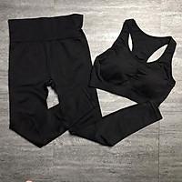 Set Đồ Tập Thể Thao Nữ Yoga - Gym Ba Lỗ Croptop Khoét Lưng Cao Cấp