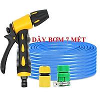 Bộ dây vòi xịt nước rửa xe, tưới cây , tăng áp 3 lần, loại 7m, 10m 206319 cút sập,nối nhựa v + túi đựng bút
