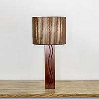 Đèn bàn mỹ thuật Ống vuông gỗ
