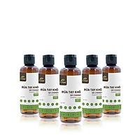 Bộ 5 Gel rửa tay khô tinh dầu Sả Chanh 24Care 100ML – kết hợp tinh dầu tràm trà, diệt khuẩn 99,9%
