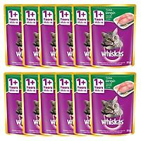 Combo 12 Gói Thức Ăn Cho Mèo Lớn Whiskas Vị Cá Ngừ (85g)