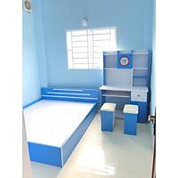 Giường ngủ Trẻ em và bàn học sinh Juno Sofa (xanh)