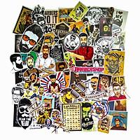 Hộp 100 Sticker Baber dán trang trí Cửa hàng, Laptop, Vali, Mũ bảo hiểm, Điện thoại, Xe máy, hình dán chủ đề Baber, thợ cắt tóc