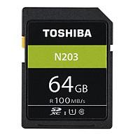 Thẻ nhớ SDXC Toshiba N203 64GB UHS-I U1 C10 100MB/s (Đen)