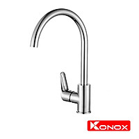 Vòi rửa bát Konox, Model KN1201 , Inox 304AISI tiêu chuẩn châu Âu, mã PVD 5 lớp sáng bóng, Hàng chính hãng