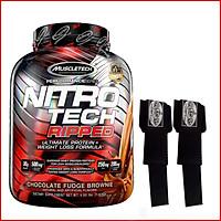Sữa tăng cơ, giảm mỡ MuslceTech Nitro Tech Ripped - Hộp 4lbs (1.8g) – Hỗ trợ phục hồi, phát triển cơ bắp, giảm mỡ thừa cho người tập thể hình và thể thao - Hàng chính hãng Muscletech USA - Mùi Chocolate - Kèm Quà Tặng