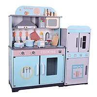 Combo đồ chơi bếp kèm tủ lạnh bé bằng gỗ 98cm