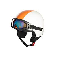 Mũ Bảo Hiểm Andes 3/4 Đầu Kính Đeo - 3S103DK Tem Bóng W204