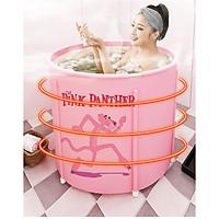 Bồn tắm gấp gọn làm bằng vải PVC, dùng để tắm, xông hơi, ngâm thảo dược hàng chính hãng