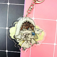 ( Mica trong acrylic ) Móc khóa Identity V Nhân cách thứ năm ver cài hoa quà tặng xinh xắn dễ thương chibi anime