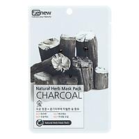 Combo 10 Miếng Mặt Nạ Giấy Than Hoạt Tính Benew Natural Herb Mask Pack Charcoal (22g / Miếng)