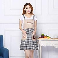 Tạp dề cute phong cách Hàn Quốc (Màu Ngẫu nhiên)
