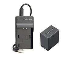 Bộ Pin + Sạc RAVPower Sony NP-FV100 Cho Sony Series NEX, HXR, DEV, HDR, DCR, FDR (Hàng Chính Hãng)