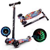 Xe trượt Scooter cao cấp có bánh phát sáng siêu đẹp 3 bánh an toàn cho trẻ em , chịu lực 90kg phù hợp với cả bé trai bé gái rèn luyện vận động cho trẻ năng động hơn