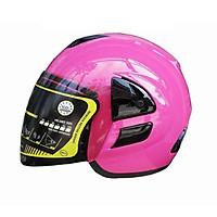Mũ bảo hiểm 3/4 SRT A19K ASA 03 - màu hồng - thiết kế thể thao, chất liệu nhựa ABS siêu bền