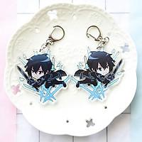 Móc chìa khóa hình nhân vật Sword Art Online SAO  Anime Keychain