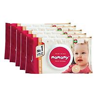 Combo 6 Gói Khăn Giấy Ướt Mamamy 100 Tờ Có Mùi (100 Tờ x 6 Gói)