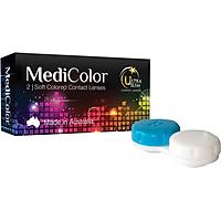 [Một cặp] Kính Áp Tròng Australia Màu Nâu 0 độ Mediclear 3 Tháng - Lens Màu Nâu (Choco) + Khay Đựng