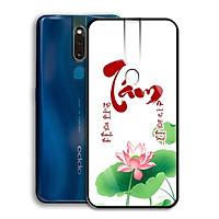 Ốp Lưng Kính Cường Lực cho điện thoại Oppo F11 Pro - 0359 7931 TAM02  - Cúc Họa Mi - Hàng Chính Hãng