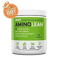 Thực phẩm bổ sung hỗ trợ tăng cơ giảm mỡ AminoLean của RSP - Năng lượng Gym bùng nổ sự tỉnh táo sự tập trung và hỗ trợ giảm mỡ thừa - chính hãng BBT
