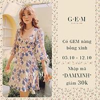 Đầm thiết kế hồng hoa xanh Verty Dress Gem Clothing SP001121