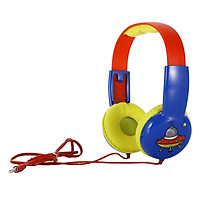 KID101 Wired Headset Kids On Ear Headphones with 3.5mm Audio Jack & Volume Portable Cute Children Learning Headphone