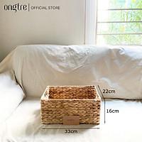 Giỏ lục bình hình chữ nhật / hình tròn đựng đồ phòng khách/ giỏ phòng ngủ/ giỏ đồ chơi | ongtre (Vietnam)