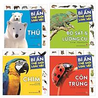 Combo 4 Cuốn Sách Bí Ẩn Thế Giới Loài Vật : Chim + Thú + Côn Trùng + Bò Sát & Lưỡng Cư (Tặng kèm Bookmark thiết kế AHA)