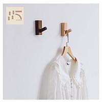Móc gỗ treo tường phong cách Hàn Quốc, Móc gỗ treo đồ, Móc gắn tường gỗ trự nhiên.